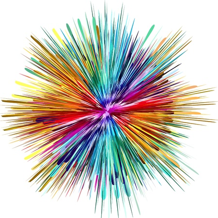 Abstract color explosion as symbol for creativity photo