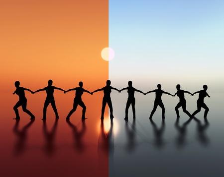 solidaridad: El espíritu de equipo, trabajo en equipo Foto de archivo