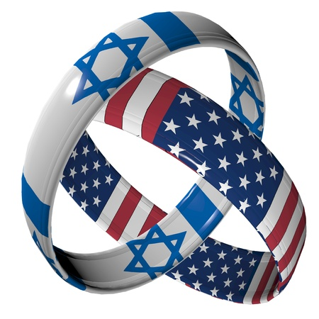 and israel: USA and Israel: Symbol for the relationship between the two countries