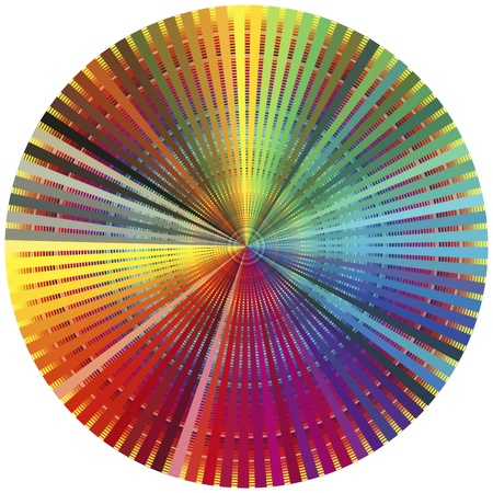 Rainbow color wheel. Decorative poster for all who are in the prepress and printing business photo