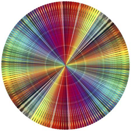 Rainbow kleurenwiel. Decoratieve poster voor allen die in de prepress en drukkerij Stockfoto