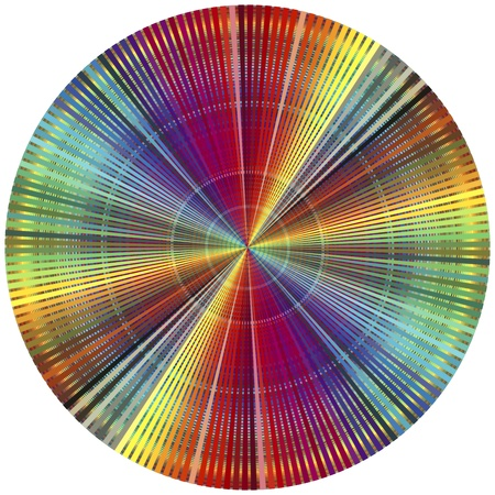 circulos concentricos: Rueda de color del arco iris. Carteles decorativos para todos los que están en el negocio de impresión y preimpresión