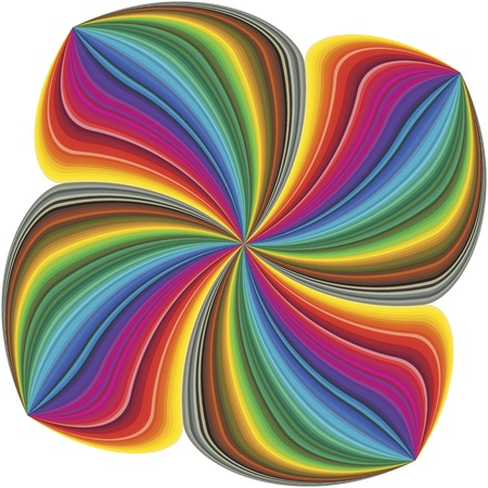 cloverleaf: Abstract four leave clover in full color spectrum art