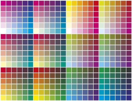 prepress: paleta de colores. Muestrario de colores para la preimpresi�n, la impresi�n y la calibraci�n de negocios Vectores