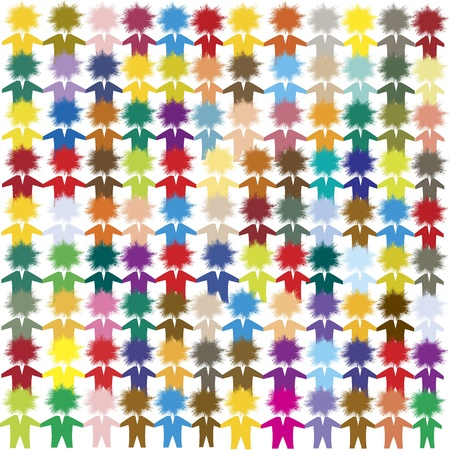 Diversity: Conceptual image illustrating multiculturalism, unity and integration