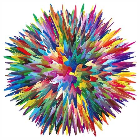 Artistes palette avec de l'huile mélangée ou peinture acrylique
