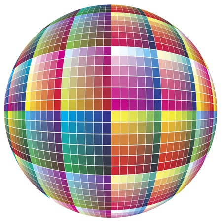 rainbow sphere: World of colors: Spherical color guide to match colors for print Stock Photo