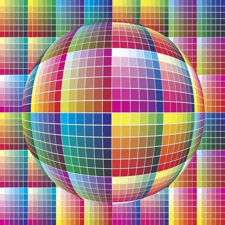 color range: World of colors: Spherical color guide to match colors for print Illustration