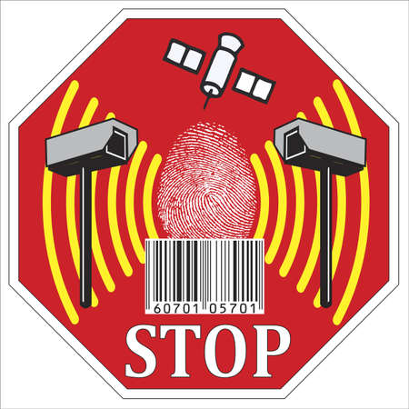 The transparent society: Stop sign of potential misuse of data and loss of privacy Stock Photo - 12521117