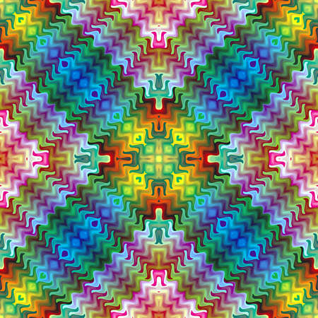 tessellation: Abstract mosaic inspired by Maya culture  Symetric abstract vector based ornament background in vivid colors Illustration