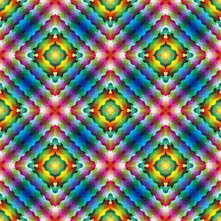 jugendstil: Modern mosaic inspired by Art Nouveau  Symmetric abstract vector based ornament background in vivid colors