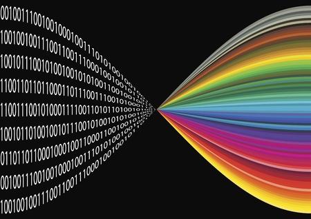 La imagen digital: Las tiendas del código binario de la información de las imágenes digitales