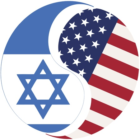 USA and Israel: Symbol for the relationship between the two countries Stock Photo - 12835955