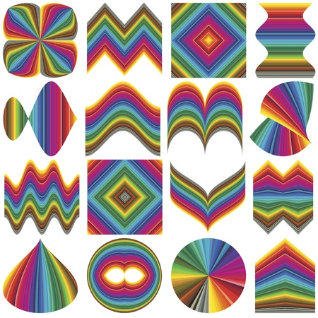 inventive: Set of fancy inventive vector elements for business or decoration in full color range. Elements can be rearranged in many ways Illustration