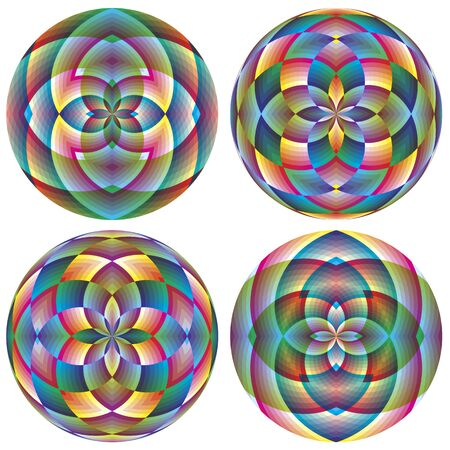 spheres with floral design for your business or decoration Stock Vector - 13081056