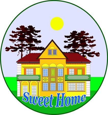 Sweet home. Illustration for the real estate market Stock Illustration - 13403414