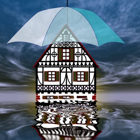 homeowner: Homeowner insurance will protect your property Stock Photo