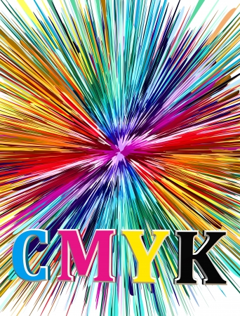 CMYK, cyan, magenta, yellow and black: the key element for the printing industry Stock Photo