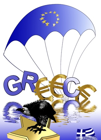 Euro crisis in Greece affects the European Union and the financial markets worldwide photo