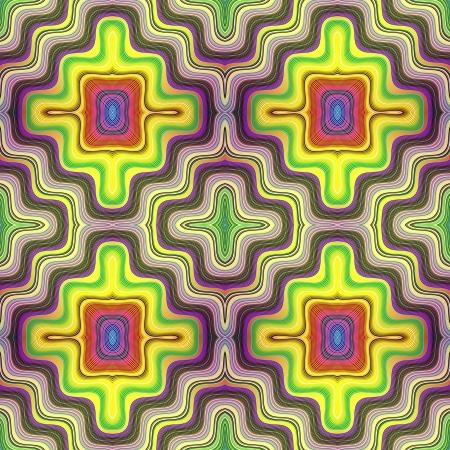 Optic illusion illustration with geometric design Stock Illustration - 13614675