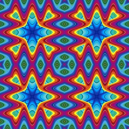 Modern maya pattern in vivid colors, seamlessly photo