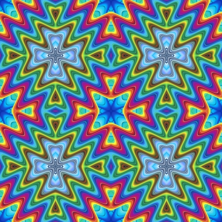 Modern maya pattern in vivid colors, seamlessly photo