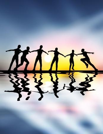 Teamgeest, teamwork en leiderschap zijn niet alleen belangrijk in moeilijke tijden Stockfoto