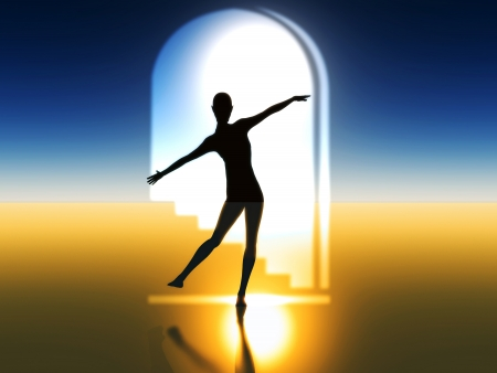Ballet dancer as symbol for harmony, elegance and beauty photo