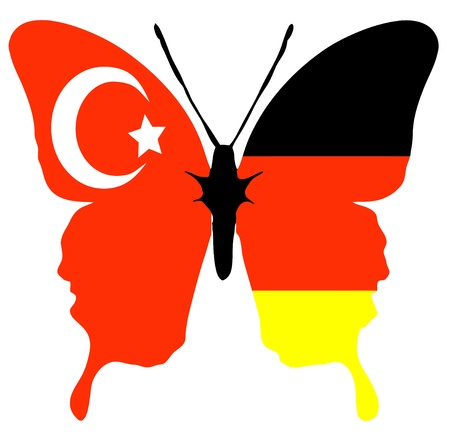long lasting: Symbol to describe the long lasting relationship and friendship between Germany and Turkey Stock Photo
