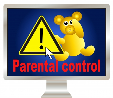 explicit: Parental control  protect your kids on the internet through safe browsing Stock Photo