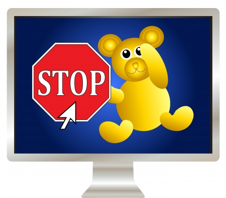 Protect your child online  Block your children s access to explicit content Stock Photo - 14084941