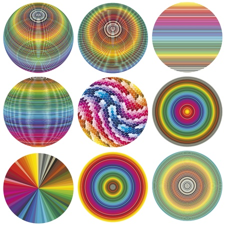 World of colors: set of spheres in full color spectrum Stock Vector - 14369338
