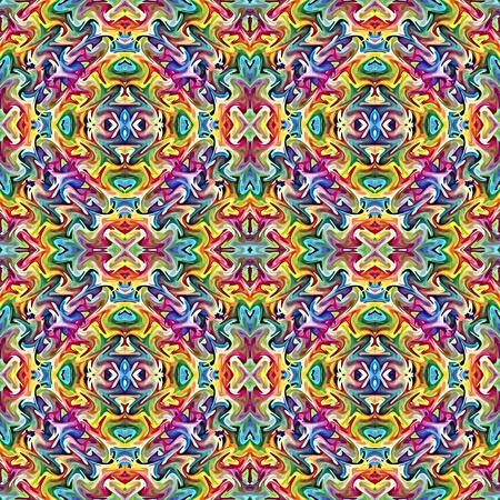 Native American textile designs; seamless sophisticated ethnic artwork in vivid colors photo