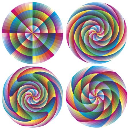 brilliant colors: Juego de magia c�rculos de vectores geom�tricos en colores vivos y brillantes para los negocios, la meditaci�n, la decoraci�n, el Feng Shui