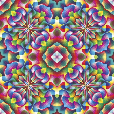 Seamless arabesque mosaic in art deco and vivid rainbow colors Stock Vector - 14689536
