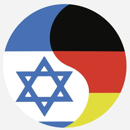 Germany and Israel: Symbol for the reconciliation and close relationship between the two countries Stock Photo - 14992859