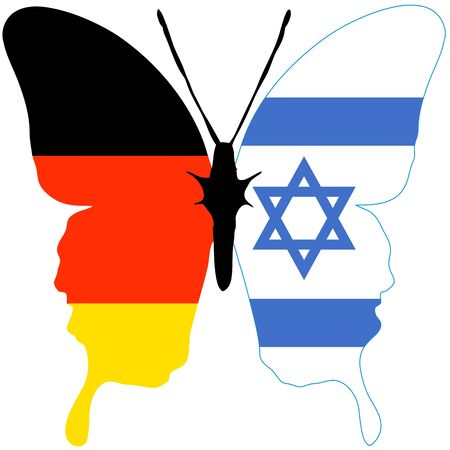 Germany and Israel: Symbol for the reconciliation and close relationship between the two countries Stock Photo - 14992861
