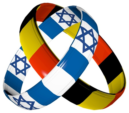 Germany and Israel: Symbol for the reconciliation and close relationship between the two countries Stock Photo - 14992863