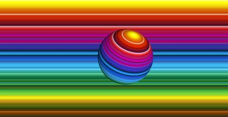 twiddle: Spinning ball. Symbol for dynamic, progress and power in brilliant vibrant colors