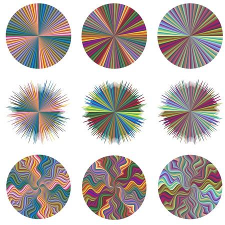 brilliant colors: Conjunto de iconos de negocio creativas; tempates pie a la creatividad y la innovaci�n en 252 brillantes colores diferentes