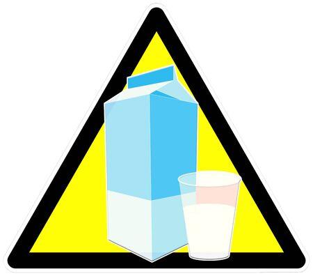 intolerancia: Precauci�n firmar con un vaso de leche para describir intolerancia a la lactosa