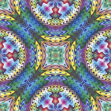 Modelo inconsútil del nativo americano en diseño contemporáneo y colores brillantes Ilustración de vector