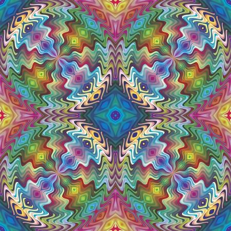 brilliant colors: Seamless patr�n nativo americano vector, obras de arte inspiradas por motivos antiguos de los incas, aztecas en el dise�o contempor�neo y colores brillantes Vectores