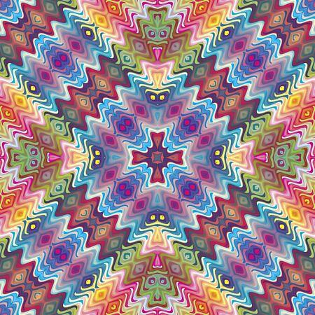Seamless modèle américain natif vecteur, illustration inspirée par des motifs antiques du Incas, Aztèques du design contemporain et des couleurs brillantes