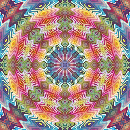 Seamless modèle américain natif vecteur, illustration inspirée par des motifs antiques du Incas, Aztèques du design contemporain et des couleurs brillantes Vecteurs