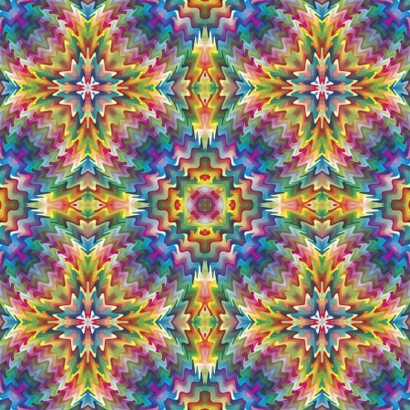 Seamless Native American vector pattern, artwork inspired by ancient motifs from Incas, Aztec in contemporary design and brilliant colors  イラスト・ベクター素材