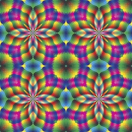 vivid colors: Seamless arabesque mosaic in art deco style. Sophisticated floral vector pattern in vivid and brilliant rainbow colors