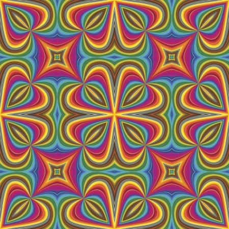 Seamless vector Pop art pattern in funky disco style Illustration