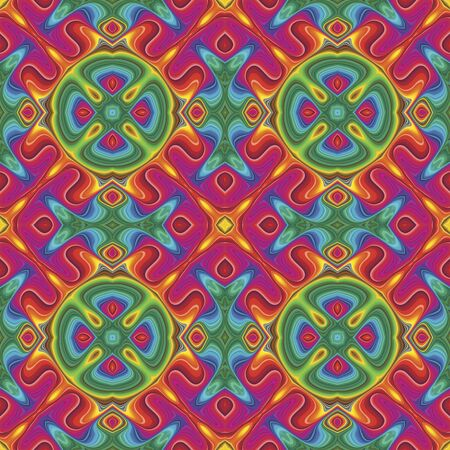 Seamless vector Pop art pattern in funky disco style Stock Vector - 16296173