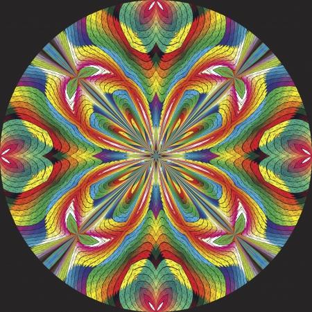 brilliant colors: Plumoso americano indio roseta o cazador de sue�os inspirados por motivos antiguos en el dise�o contempor�neo y colores brillantes sobre un fondo negro